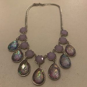 Charming Charlie Purple Statement Necklace